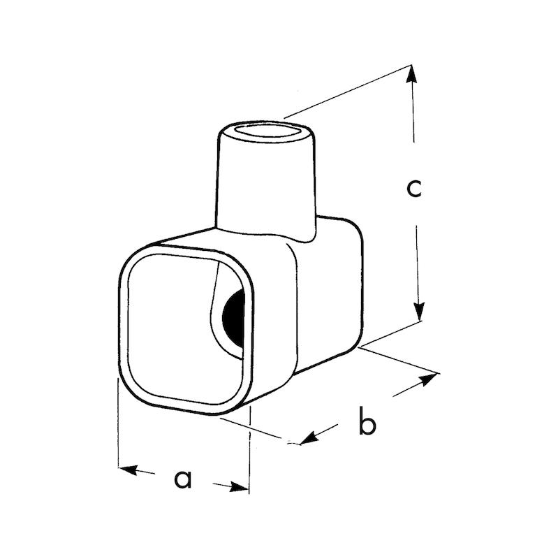 Morsetto volante isolato sciolto - MORSETTI VOLANTI IMQ  2,5MMQ TRASP.