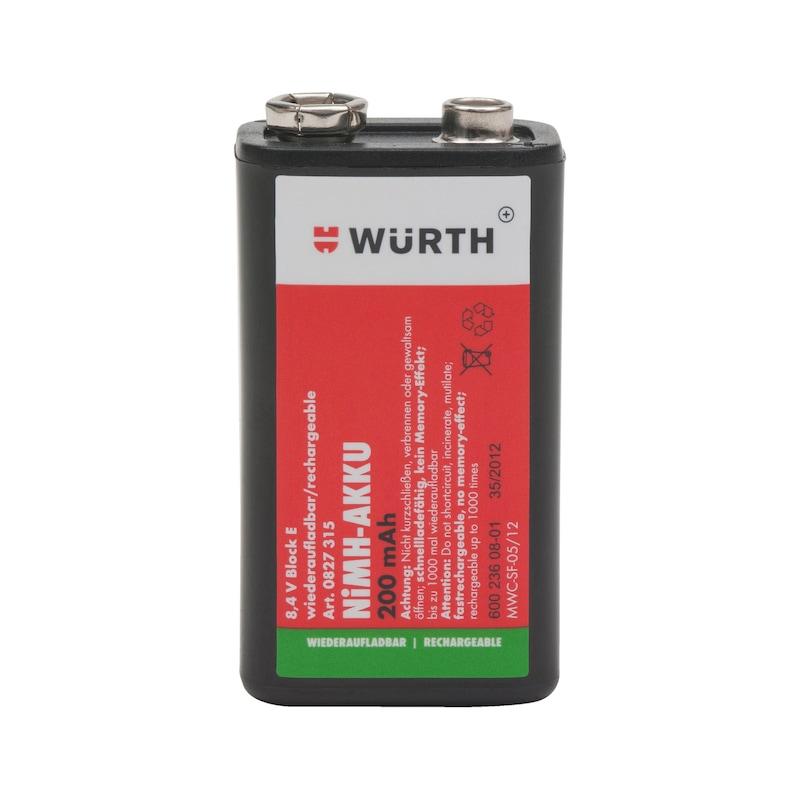 Ön şarjlı NiMH batarya - ŞARJLI PİL BLOK 8,4V-E-NİMH-200MAH