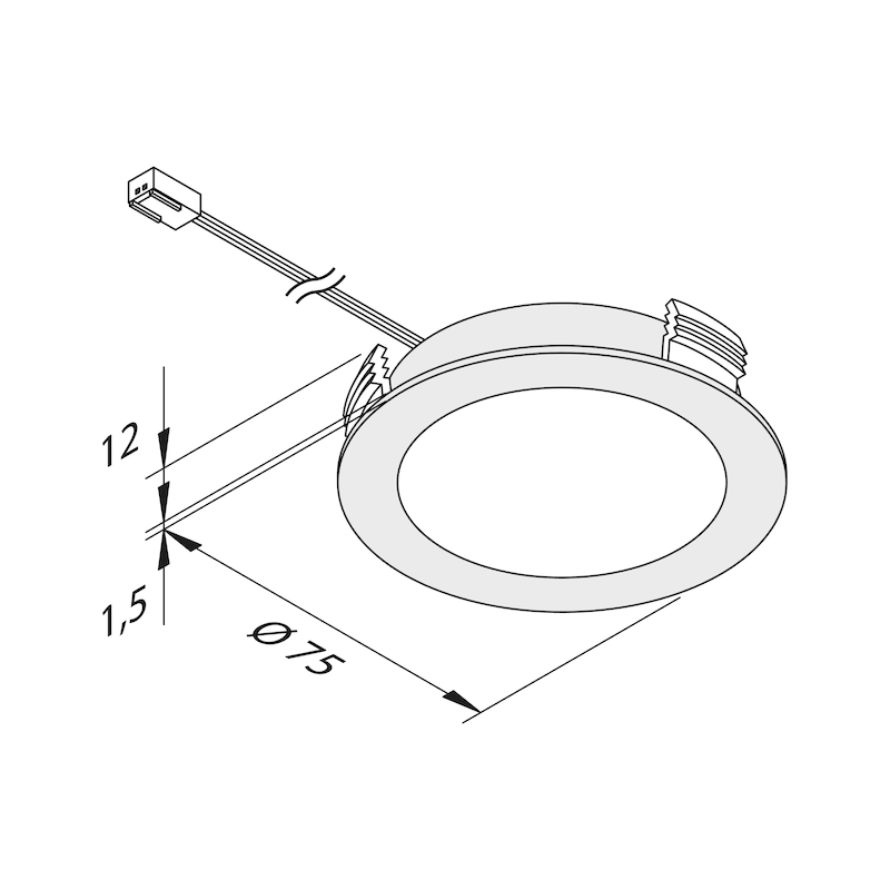 Einbauleuchte EBL-24-2 Set - 2
