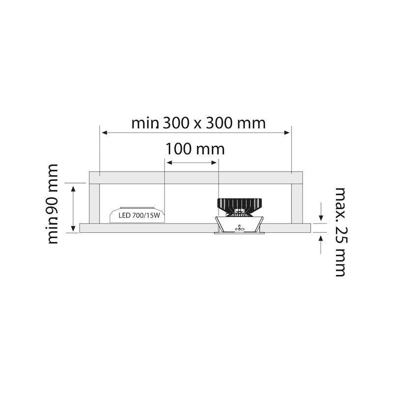 Einbauleuchte EBL-700-1 - 0