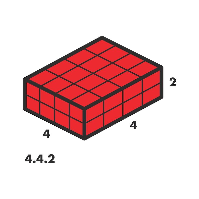 Système de rangement à compartiments4.4.2 avec adaptateur en mousse - 2