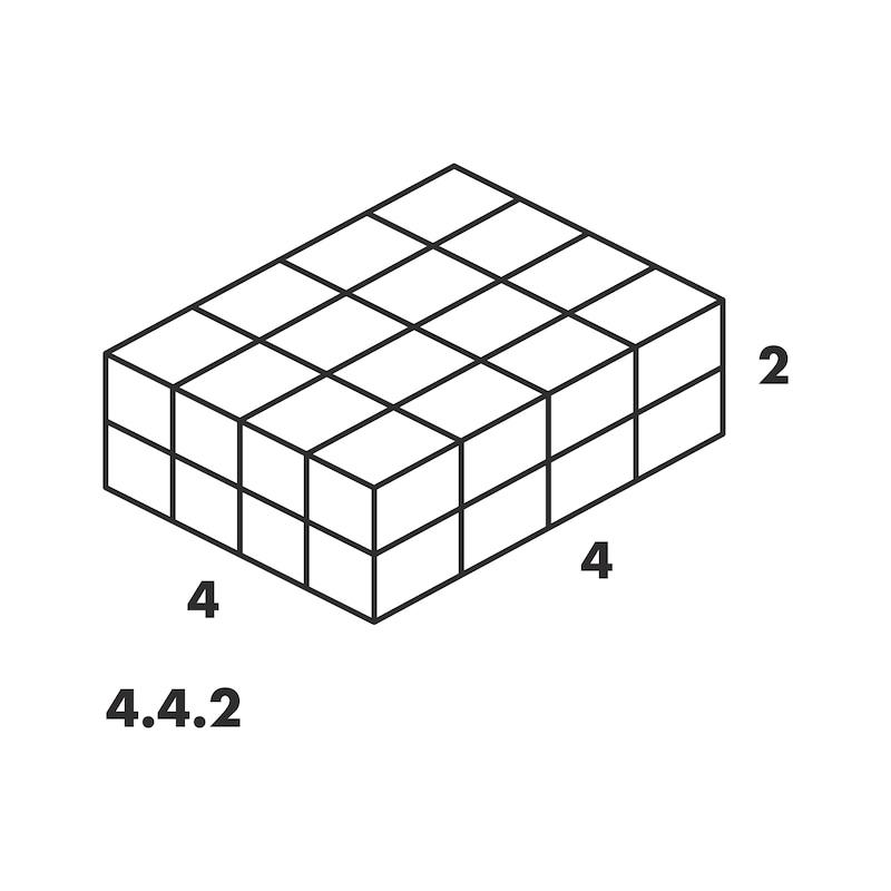 Rendszerkoffer 4.4.2, átlátszó - SYSTEMKOFFER-4.4.2.-TRANSZPARENS