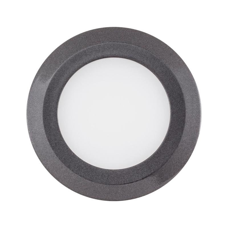 LED-Einbauleuchte EBL-12-10 - LEUCHT-LED-EBL-12-10-WW-DGRAU