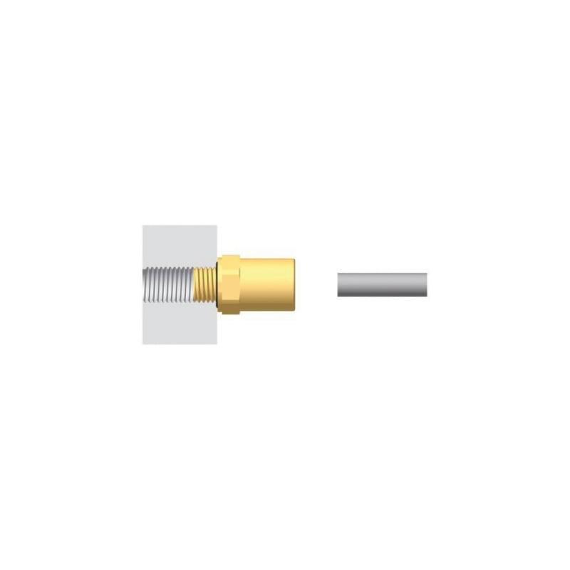 Connecteur enfichable/à vis ABC, droit - 2