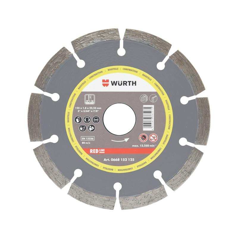 Diamond cutting disc CONSTRUCTION SITE - CUTDISC-DIA-SEG-2,2-H8,5-BR22,23-D180