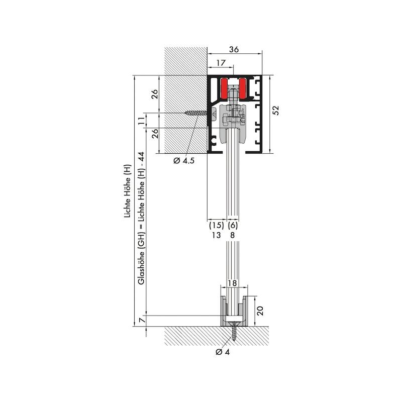 Zimmerschiebetürbeschlag Redoslide Z40-G - 2