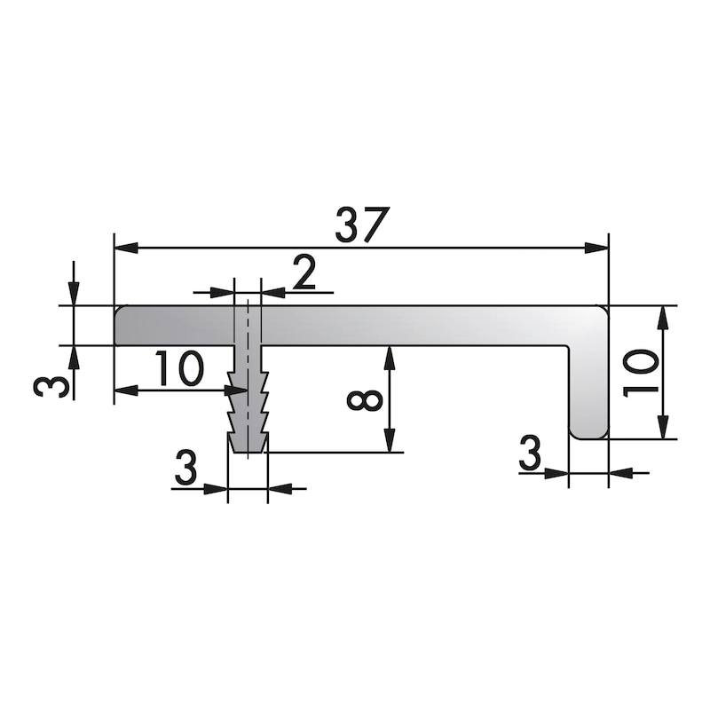 Aluminium Griffleiste Typ L - 4