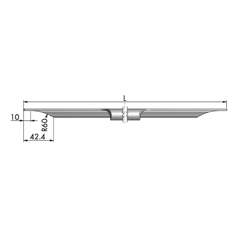Aluminium Griffleiste Typ J - 3