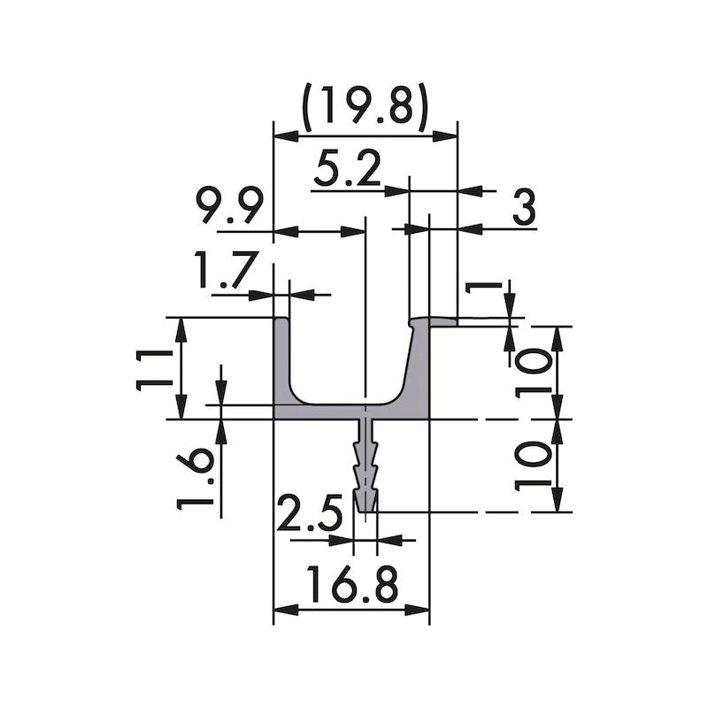 Aluminium Griffleiste - 2