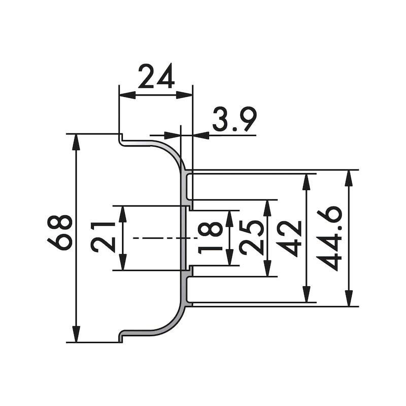 Aluminium Griffmulde C-Form horizontal - 2