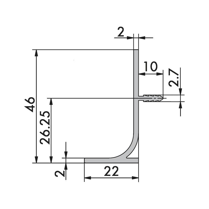 Aluminium Griffmulde L-Form vertikal - 2