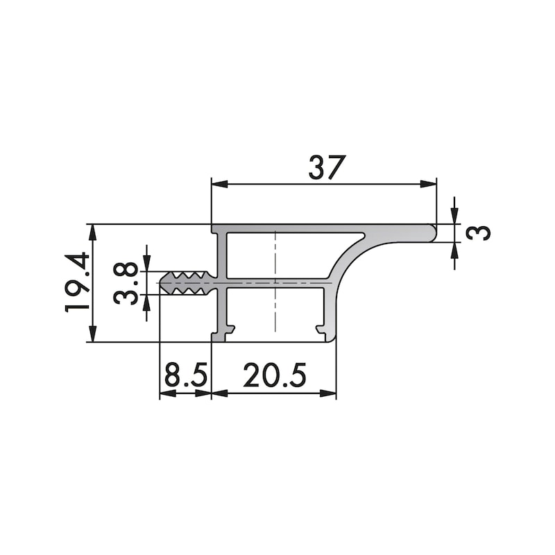 Aluminium Griffmulde Typ OV - 2