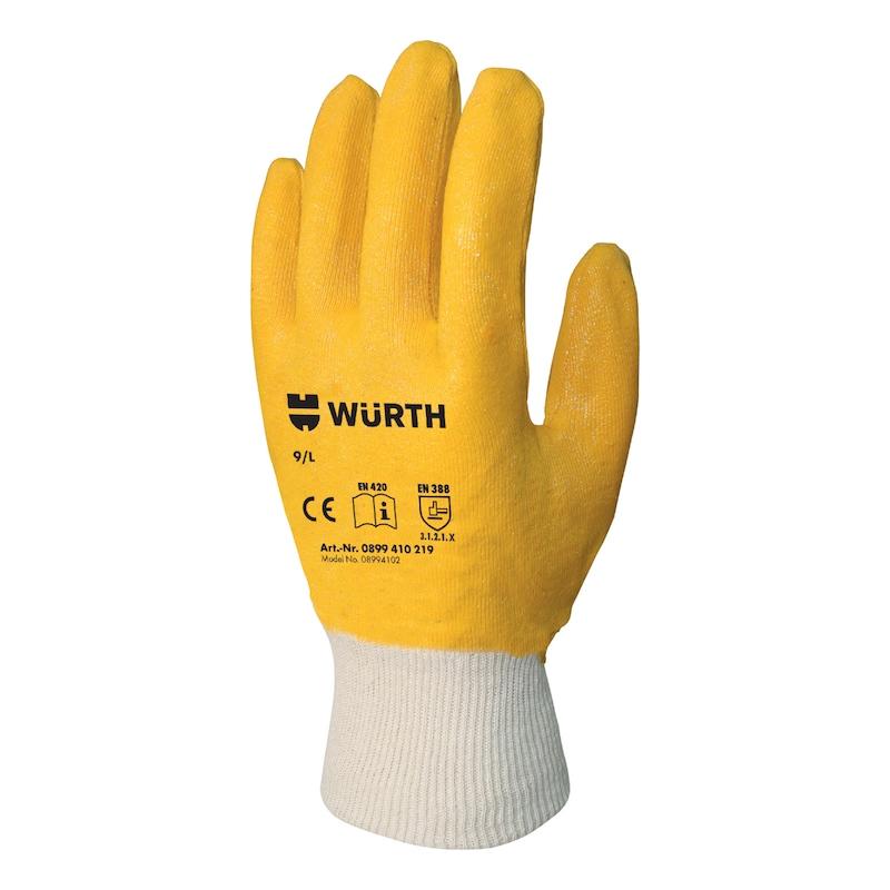 İş güvenliği eldiveni, nitril, diğer - İŞ GÜVENLİĞİ ELDİVENİ NİTRİL SARI 9