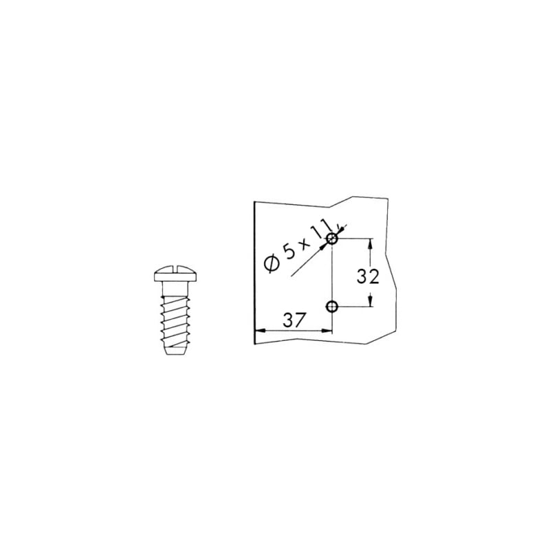 Basetta per cerniera a clip - 2