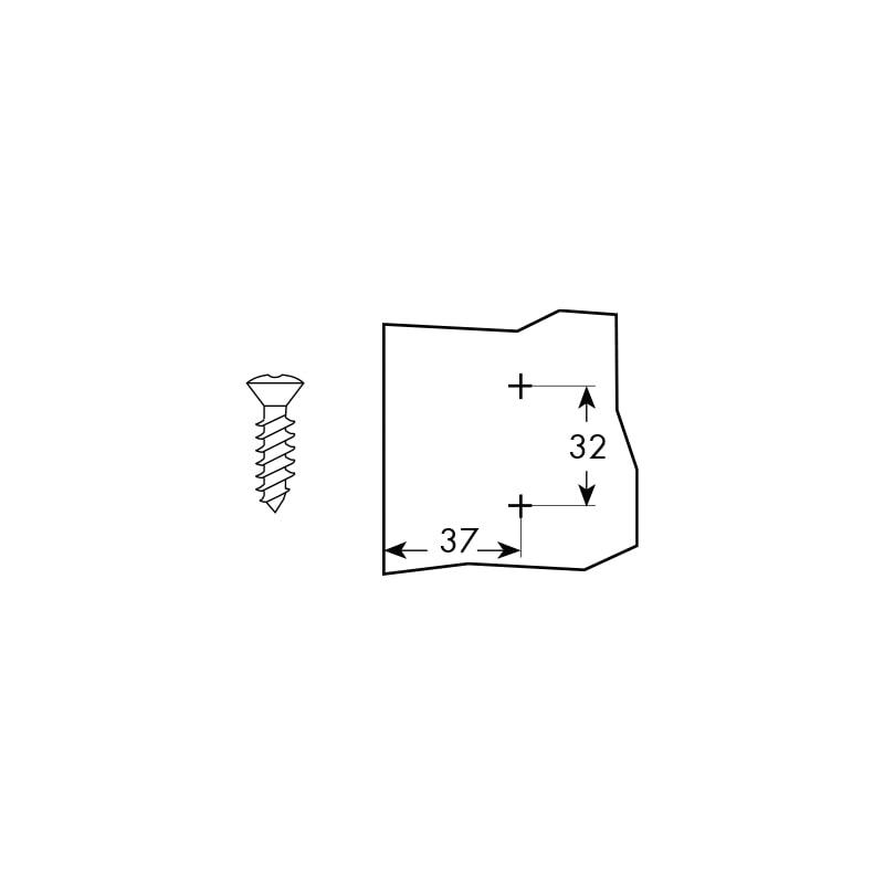 Basetta per cerniera a clip SERIE - BASE A CR.RAPID CLIP REG.ECC.ALT.0MM