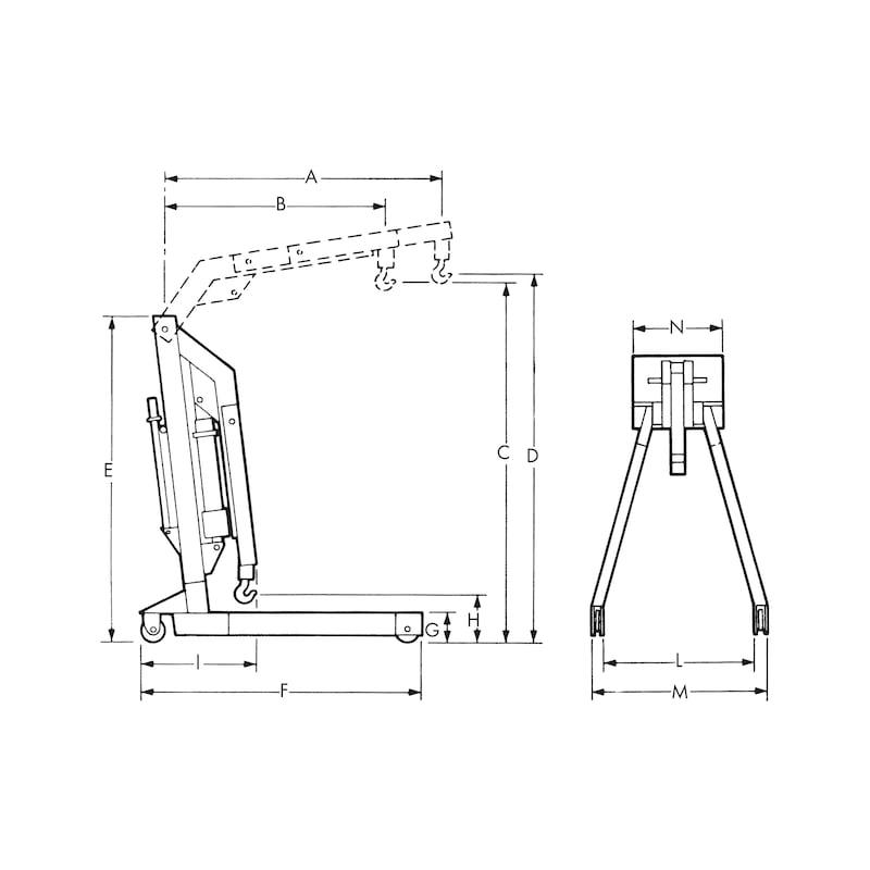 Grue d'atelier pliante hydraulique - 2
