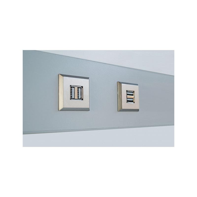 USB-Doppelsteckdose 12V aus Kunststoff im rechteckigen Design - 5