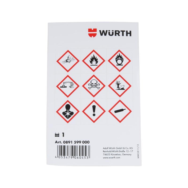 Etiquettes de symboles de danger