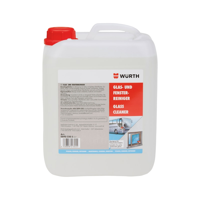 Glass and window cleaner - GLSCLNR-5LTR