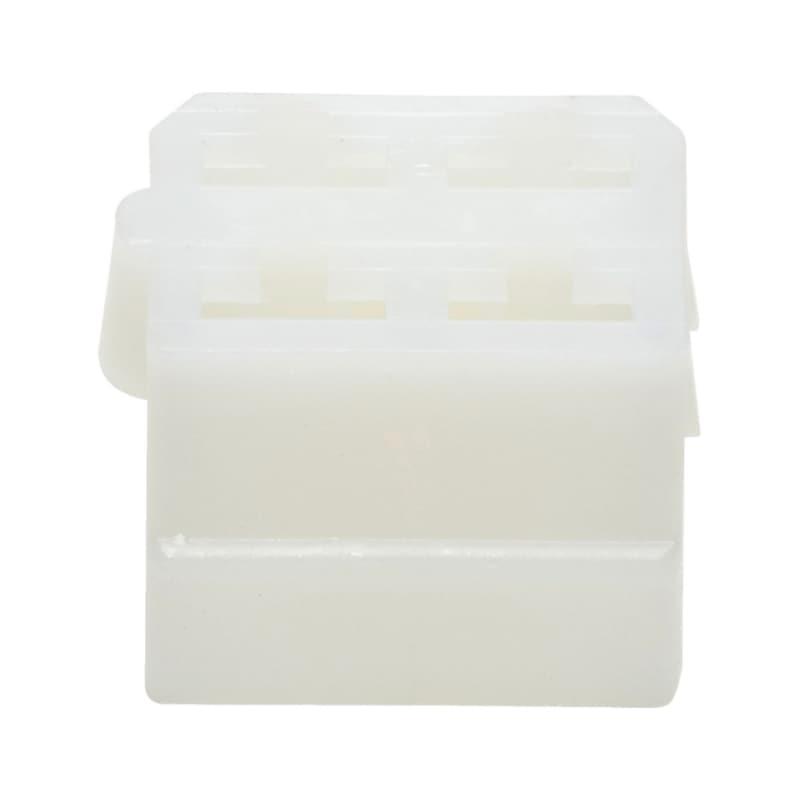 Yassı erkek klemens için plastik soket 6,3x0,8 mm - 4LÜ SOKET DİŞİ KLMN.İÇİN 6,3MM TIRN.BYZ