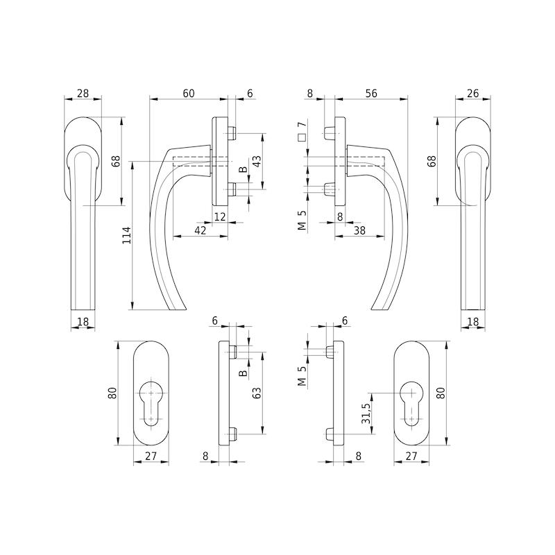 Balkontürgarnitur AL 420 - 2