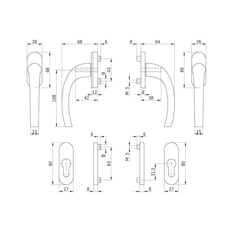 Balkontürgarnitur AL 440 - 2