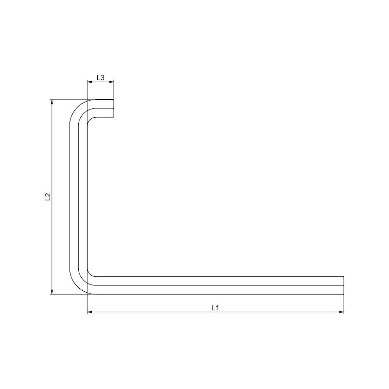 Winkelschraubendreher Innensechskant Fenstereinstellwerkzeug - 2