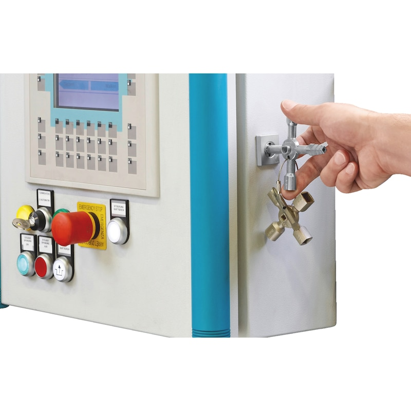 Clé pour armoire électrique universelle jumelée, 10 en 1  - 4