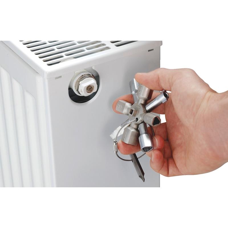Clé pour armoire électrique universelle jumelée, 10 en 1  - 7