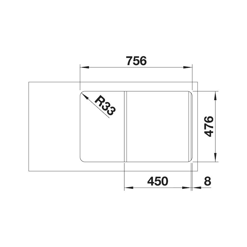 Spüle Blanco Lantos 45 S-IF Compact - 3