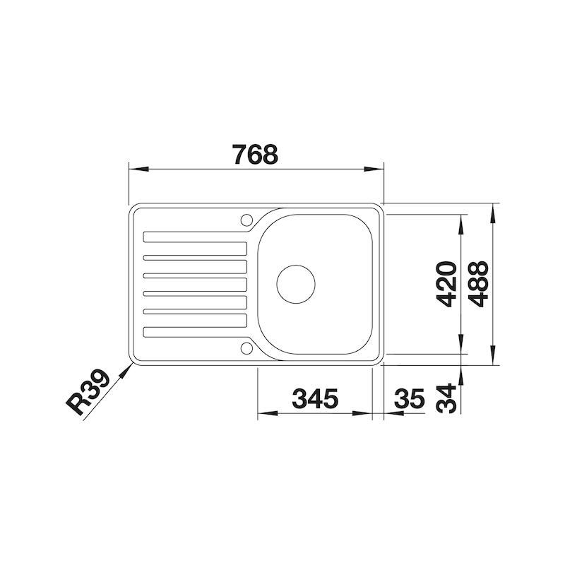 Spüle Blanco Lantos 45 S-IF Compact - 2