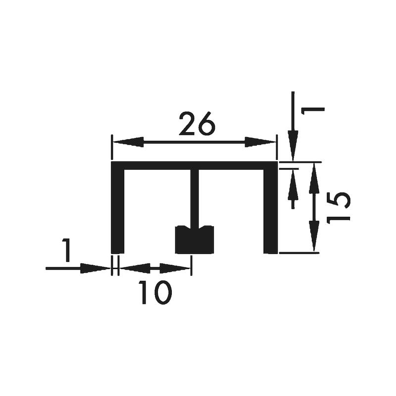 Doppelführungsschiene oben - 2