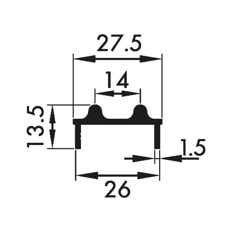 Doppellaufschiene unten - 2