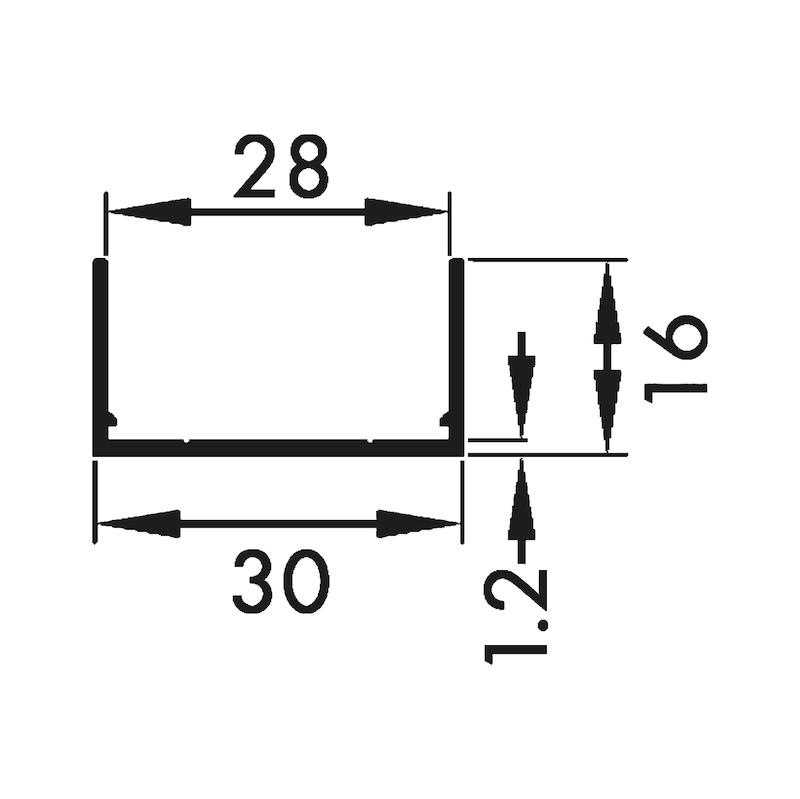 Rahmen- und seitliches Abschlussprofil - 2