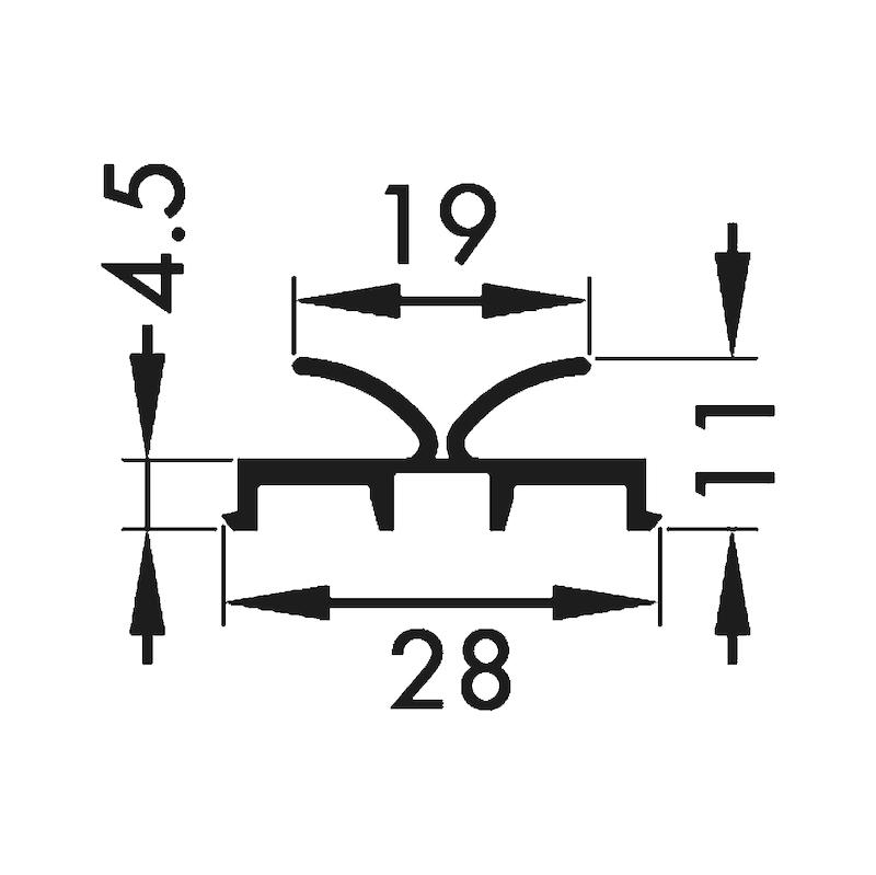 Staubschutz- und Anschlagsprofil - 2