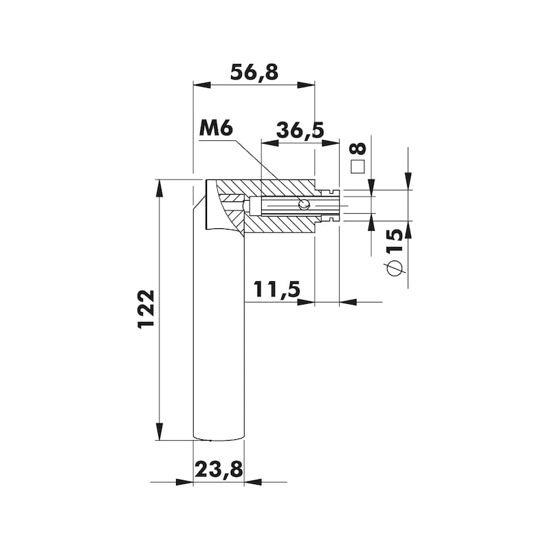 Türdrücker  ZD 33 Rosettengarnitur - 2