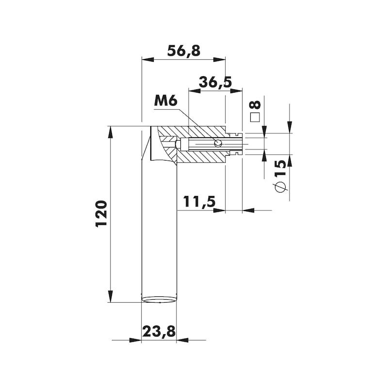 Door handles  ZD 34 rosette fittings - 2