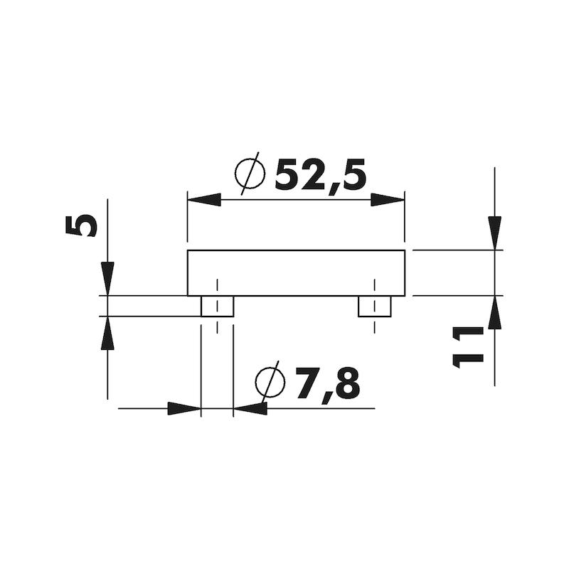 Door handles  ZD 34 rosette fittings - 3