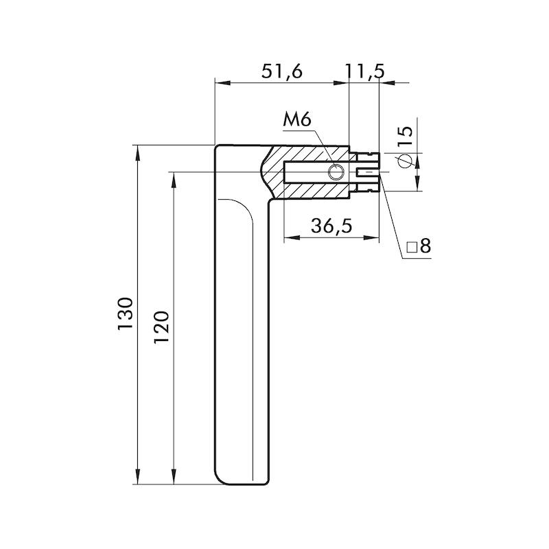 Türdrücker ZD 36 Rosettengarnitur - 2