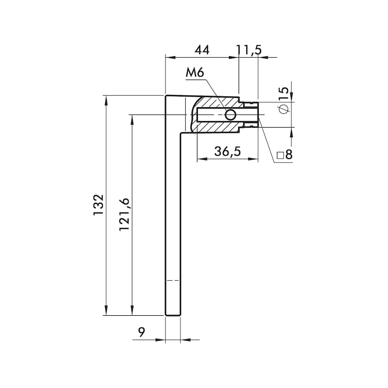 Türdrücker ZD 39 Rosettengarnitur - 2