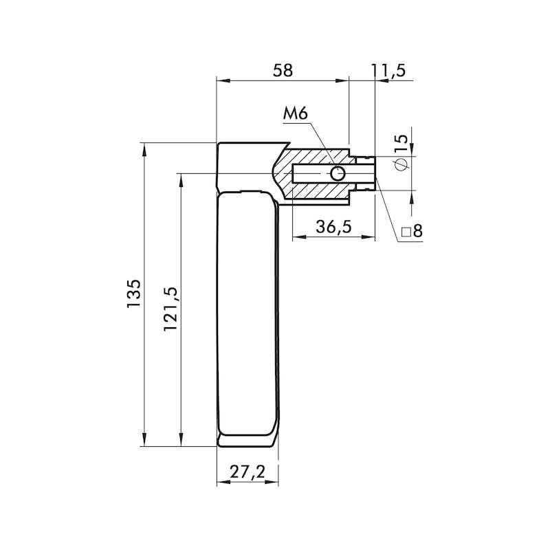 Türdrücker ZD 40 Rosettengarnitur - 2