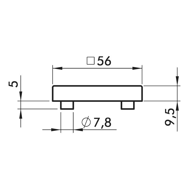 Türdrücker ZD 40 Rosettengarnitur - 3