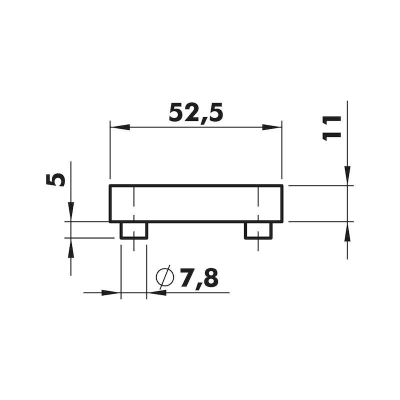 Türdrücker ZD 41 Rosettengarnitur - 3