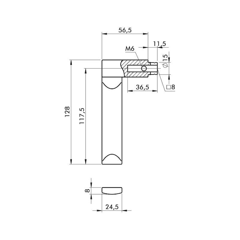 Türdrücker ZD 45 Rosettengarnitur - 2