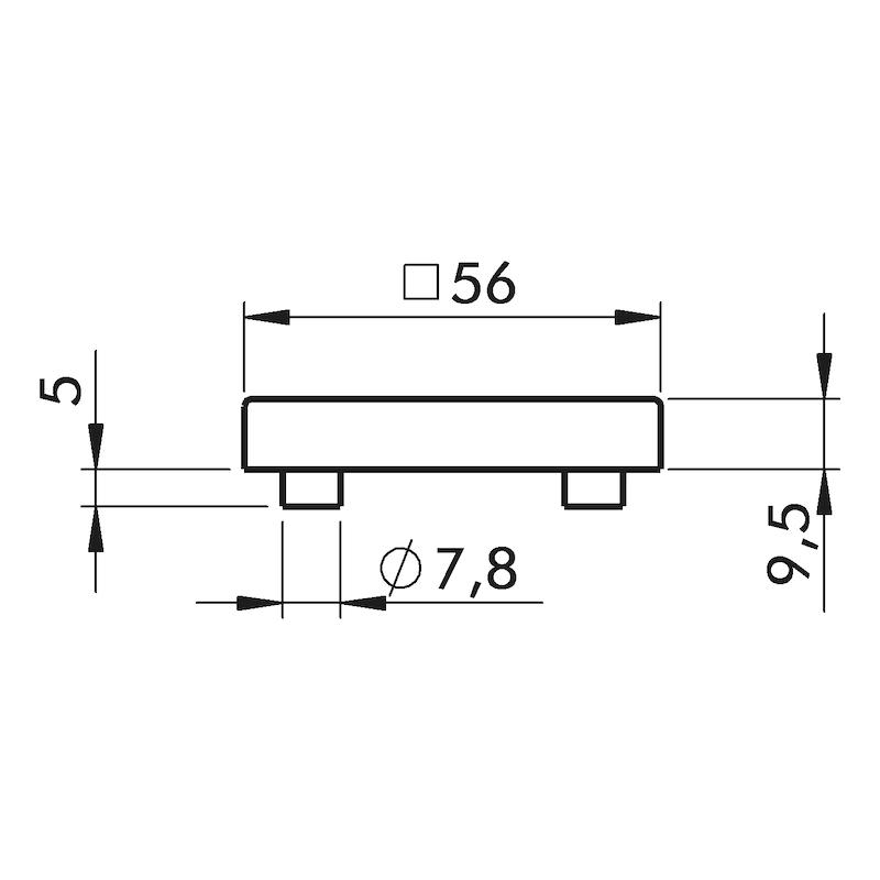 Türdrücker ZD 45 Rosettengarnitur - 3
