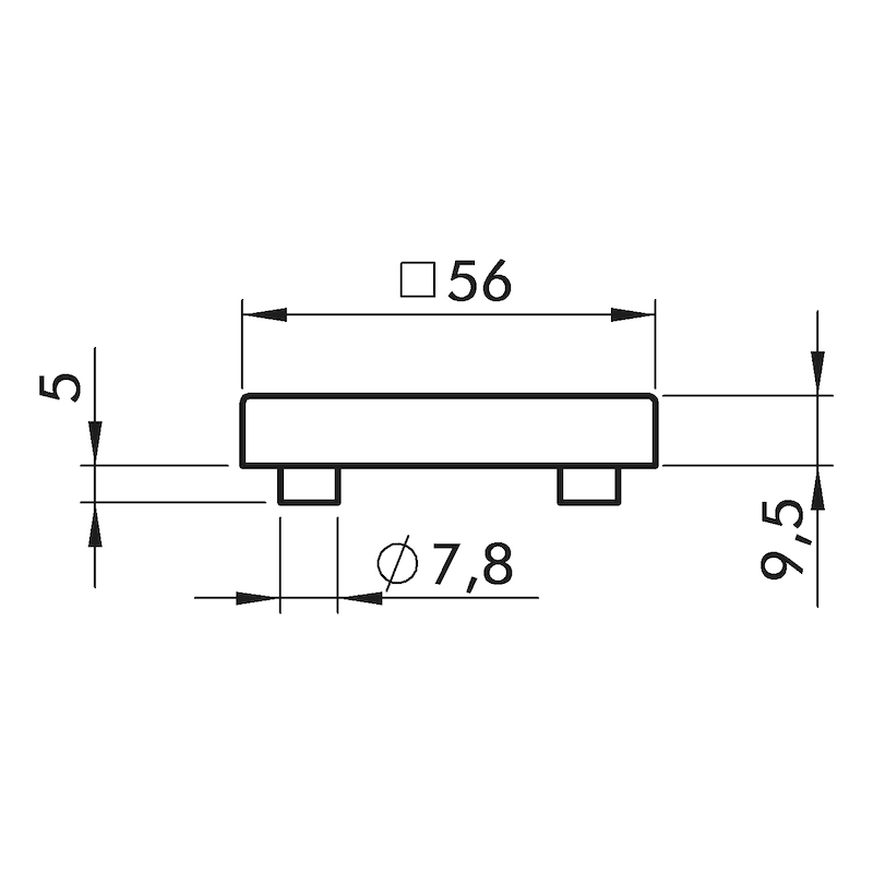 Türdrücker ZD Nuevo Rosettengarnitur - 3