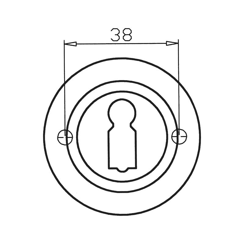 Türdrücker  ZD 21 Rosettengarnitur - TD-ZD21-ROS-BB-(CR)-MATT