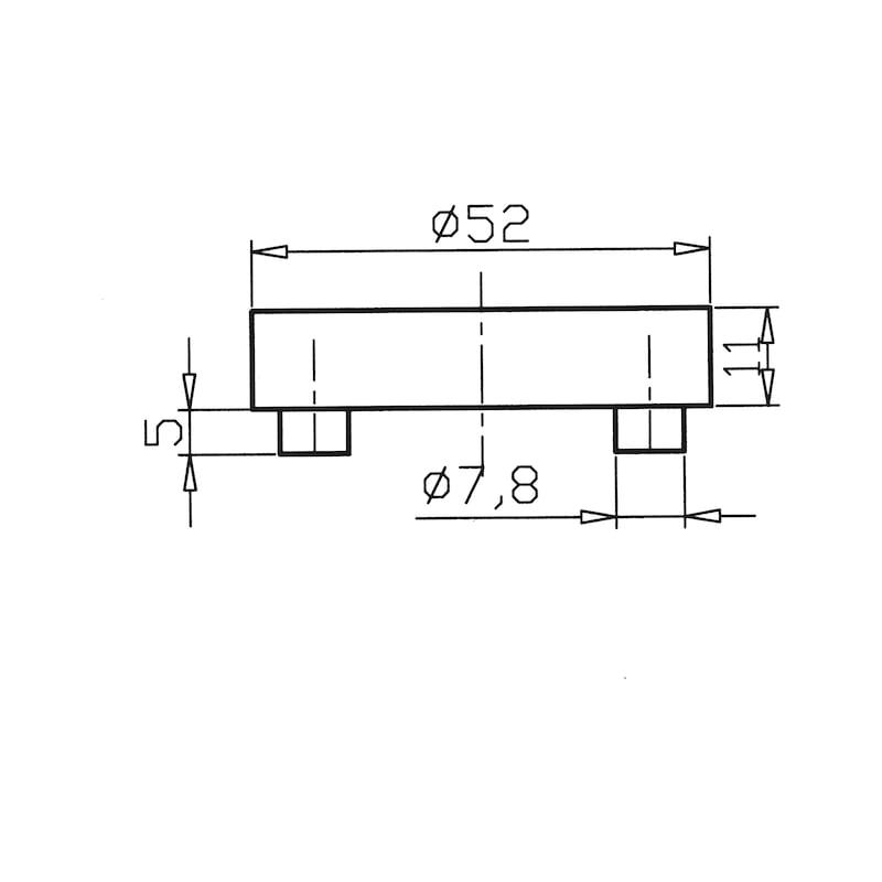 Dverová kľučka ZD21 - KLUCKA DVER. ZD21 WC (CR) MATNA
