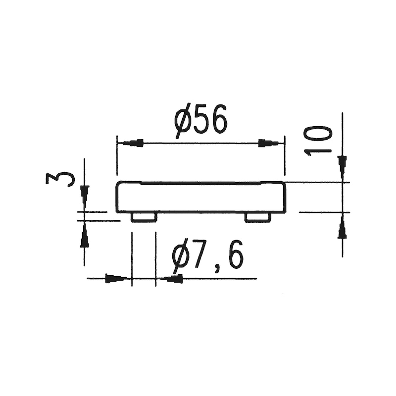 Türdrücker  ZD 22 Rosettengarnitur - 3