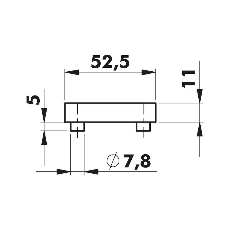 Door handle Eventus rosette fitting - 3